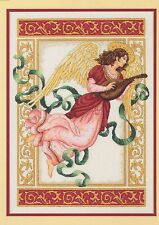 Melodía angelical Cross Stitch Kit Dimensions Gold Collection