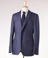 NWT $2695 ERMENEGILDO ZEGNA Blue Silk-Cashmere Sport Coat Slim 42 L Fit Firenze