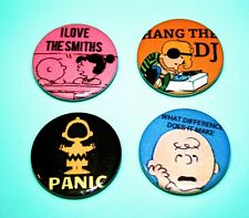 SET OF 7 SNOOPY PEANUTS THE SMITHS INSPIRED BUTTON PIN BADGES