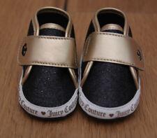 b872f6a4c40e58 Juicy Couture Baby Girl Crib Shoes Santa Cruz Gold Metallic   Black Glitter  ...