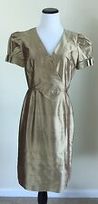 SHANI Dress 100% Raw Silk Sheath Short Sleeve Size 6
