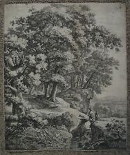 ANTHONIE WATERLOO 1650 Original Dutch Old Master ETCHING Landscape with Trees