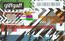 Giff Gaff Sim Card Credit Pay As You Go £5 FREE 4G Standard Micro Nano - PAYG