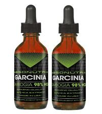 2 bottles Absonutrix Garcinia Cambogia 98% HCA Drops- 2 Oz Natural supplement