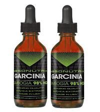 2 bottles Absonutrix Garcinia Cambogia 98% HCA Drops- 2 Oz Natural supplement