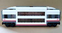 LEGO Train Carriage CUSTOM Club Car Double Deck Passenger Sleeper For Set 60051