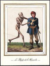 Memento Mori VANITAS Totentanz morte Harold altkol lito 1830 Death Skull Dragon