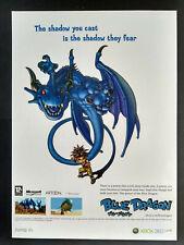 Blue Dragon - Microsoft - Video Game - Magazine Advert #B4037