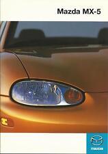 Mazda MX-5 UK Market Brochure July 1998 28 Pages Ft 1.6i 1.8i & 1.8iS Models