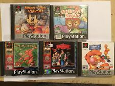 PS1 PLAYSTATION 1 CHILDREN KIDS GAMES BUNDLE TIGGERS HONEY HUNT MICKEY ANASTASIA