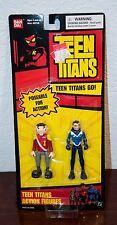 2004 DC COMICS BANDAI TEEN TITANS PUPPET KING & AQUALAD ACTION FIGURE 2 PACK MOC