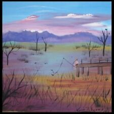 Medium (up to 36in.) Country Art Landscape Paintings
