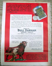 1913 Color Sunday magazine from NY Tribune w back page ad fr BULL DURHAM TOBACCO