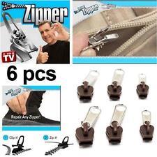 Hot TV 6Pcs Fix A Zipper Zip Slider Rescue Instant Repair Kit Replacement YACㅆ