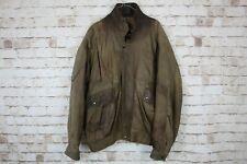"Sardar Brown Leather Jacket Chest size 56"""