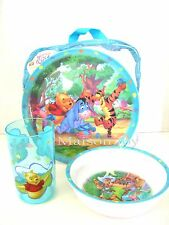 NEW Winnie the Pooh & Friends 3 Pcs Kid Dinnerware Set with bag - Dining Set