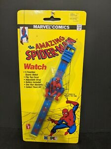 VINTAGE SPIDER MAN 1990 MARVEL COMICS HOPE INDUSTRIES PLASTIC WATCH NEW