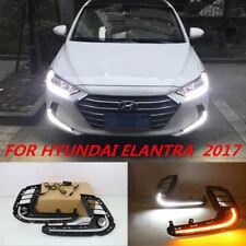 DRL FOR HYUNDAI ELANTRA AD 2017 LED DAYTIME RUNNING LIGHT FOG LAMP W TURN SIGNAL