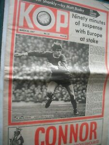 8 KOP The Official Paper of LIVERPOOL Supporters Club from 1960's