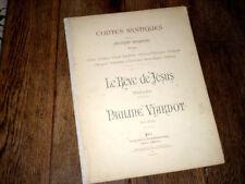 Le rêve de Jésus mélodie extraite des Contes Mystiques piano chant 1890 Viardot