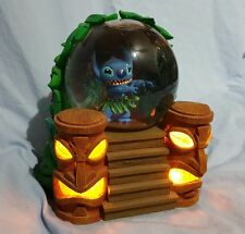 DISNEY'S (LILO &) STITCH LIGHT-UP TIKI SNOWGLOBE MUSIC BOX