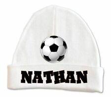 Soccer Baby Beanie Hat Boys Custom Infant Newborn Personalized 0 - 6 months