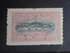 New Hebrides Port Vila 1897 local stamp mint OG LH F/VF