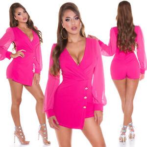 Koucla Ladies Playsuit Party Short Overall Jumpsuit Wrap Look Hotpants