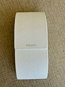 Prada XL Eyeglasses Sunglasses Glasses Hard Case - Magnetic Close - White