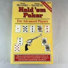 Hold'Em Poker for Advanced Players (Advance Player) by Mason Malmuth 1880685221