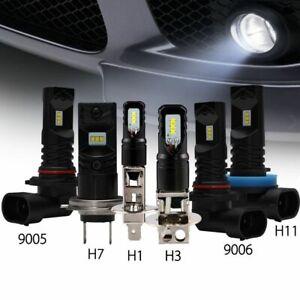 NIGHTEYE Pair 160W LED Fog Light Bulb 1600LM White H1 H3 H7 H8 H9 H11 H16 6500K