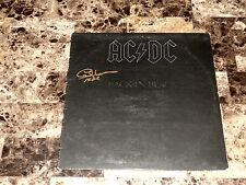 AC/DC Rare Cliff Williams Hand Signed Back In Black Vinyl LP Record Classic Rock