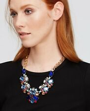 Ann Taylor Scattered Stone Statement Necklace NWT $89.50 Smoke/Grey