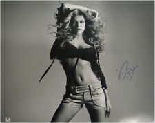 Fergie Signed Autographed 16X20 Photo B/W Sexy Bra Black Eyed Peas Ga776050