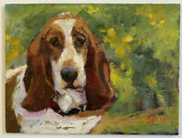 Oil Painting Original (Long Ears) canvas board size 6x8 Single-Piece Work