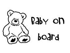 Baby a bordo Auto Adesivo Finestra Decalcomania Personalizzata Teddy Kids Car Seat 200 mm