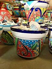 "Talavera Mexican Pottery-Traditional Planters 5"" - Colorful *Free Freight*"