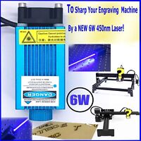 PWM Laser  Engraving Module/Focusable 450nm 6W High Power Etcher Laser