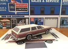 Papercraft 1979 Mercury Colony Park wagon Paper Car EZU-build  Toy Model Car
