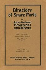 Directory of Spare Parts for Harley Davidson Motorcycles and Sidecars: By Ros...