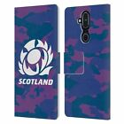 OFFICIAL SCOTLAND RUGBY LOGO 2 LEATHER BOOK WALLET CASE COVER FOR NOKIA PHONES