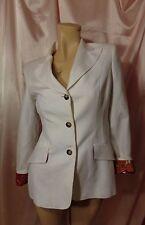 Dolce & Gabbana White Cotton Blazer/Multicolor Linen Size S Made in Italy EUC