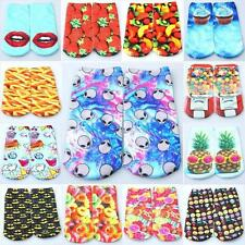 Mens Womens Creative Food Fruit Emoji 3D Printed Cami Low Cut Ankle Cotton Socks
