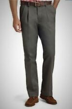 IZOD Men's AMERICAN CLASSIC CHINO Pants Double Pleat OLIVE Size  33 x 30 NWT