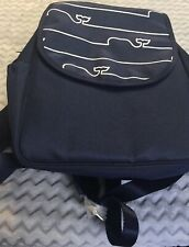 Vineyard Vines Whale Line Baby Diaper Bag Backpack & Changing Pad Cooler Blue