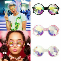 Festival Rave Kaleidoscope Round Rainbow Glasses Diffraction Crystal Lens Hot