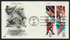 #2085a 20c 84 Summer Olympics-Plate Block, Art Craft FDC **ANY 4=FREE SHIPPING**