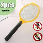 2X Electronic Bug Zapper Mosquito Insect Electric Fly Swatter Racket Bat Yellow photo