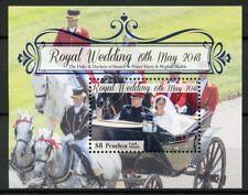 Penrhyn Cook Islands 2018 MNH Prince Harry & Meghan Royal Wedding 1v S/S Stamps