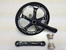 New Unbranded Alloy Bike Crankset Chainwheel Single Speed 53T 175mm Black/Silver